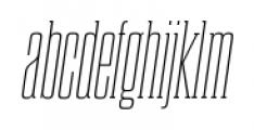 Dharma Slab C Thin Italic Font LOWERCASE