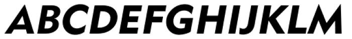 DHSans Bold Oblique Font UPPERCASE