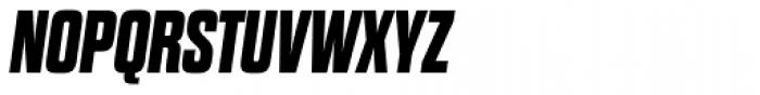 Dharma Gothic Expanded ExtraBold Italic Font UPPERCASE