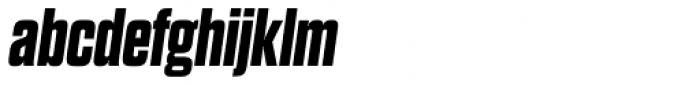 Dharma Gothic Expanded ExtraBold Italic Font LOWERCASE