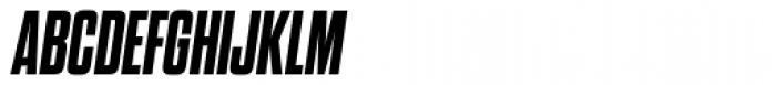 Dharma Gothic ExtraBold Italic Font UPPERCASE