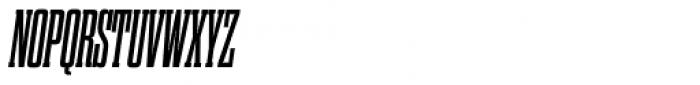 Dharma Slab Condensed Bold Italic Font UPPERCASE