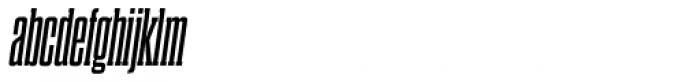 Dharma Slab Condensed Bold Italic Font LOWERCASE