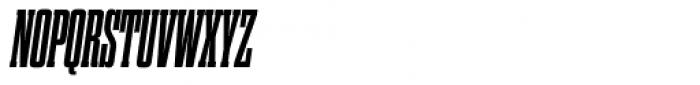 Dharma Slab Condensed ExtraBold Italic Font UPPERCASE