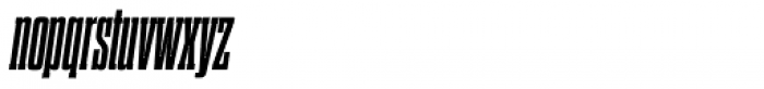 Dharma Slab Condensed ExtraBold Italic Font LOWERCASE