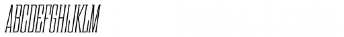 Dharma Slab Condensed ExtraLight Italic Font UPPERCASE