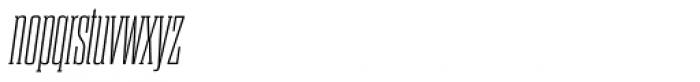 Dharma Slab Condensed ExtraLight Italic Font LOWERCASE
