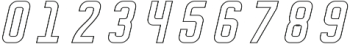 DISPLAYEDObliqueoutline otf (400) Font OTHER CHARS