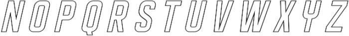 DISPLAYEDObliqueoutline otf (400) Font UPPERCASE
