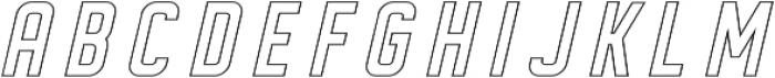 DISPLAYEDObliqueoutline otf (400) Font LOWERCASE