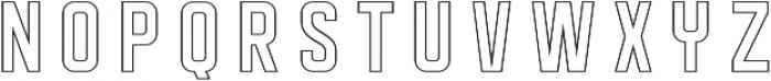 DISPLAYEDoutline otf (400) Font UPPERCASE