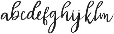 Diana Rough otf (400) Font LOWERCASE