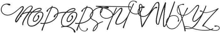 Diandra signature font ttf (400) Font UPPERCASE
