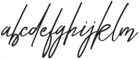 Diandra signature font ttf (400) Font LOWERCASE