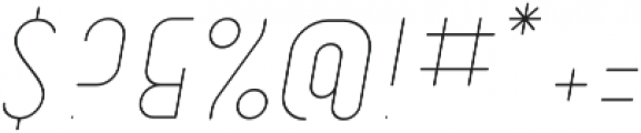 Dianna ObliqueLight otf (300) Font OTHER CHARS