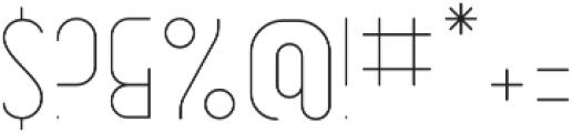 Dianna RoundLight otf (300) Font OTHER CHARS