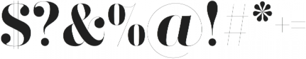 Didonesque Ghost Bold otf (700) Font OTHER CHARS