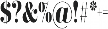 Didonesque Lite Bold Condensed otf (700) Font OTHER CHARS