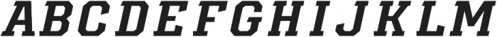 Diesel Italic otf (400) Font LOWERCASE