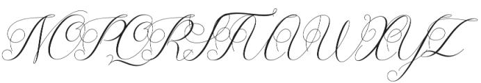 Diffrenlight Regular otf (300) Font UPPERCASE