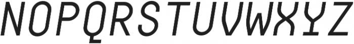 Digerati Regular Italic otf (400) Font UPPERCASE