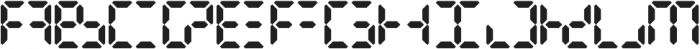 Digital Dismay otf (400) Font UPPERCASE
