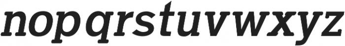 Dilly-Slab Bold-italic otf (700) Font UPPERCASE
