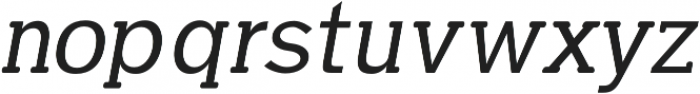 Dilly-Slab Regular-italic otf (400) Font UPPERCASE