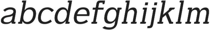 Dilly-Slab Regular-italic otf (400) Font LOWERCASE