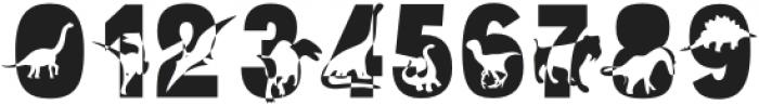 Dino World Regular otf (400) Font OTHER CHARS