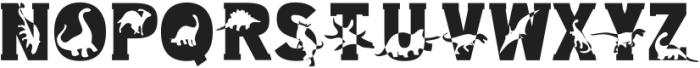 Dino World Regular otf (400) Font UPPERCASE