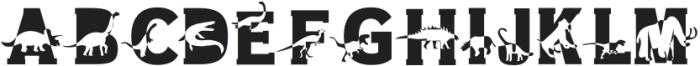 Dino World Regular otf (400) Font LOWERCASE