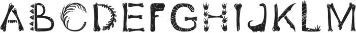 DinoFont2 Regular otf (400) Font UPPERCASE