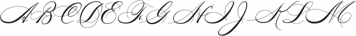 Diplomatic Script otf (400) Font UPPERCASE