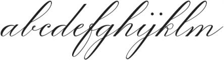 Diplomatic Script otf (400) Font LOWERCASE