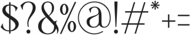 Diranista Regular otf (400) Font OTHER CHARS