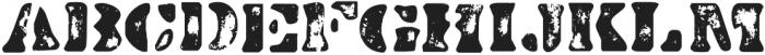 Dirty Baker's Dozen Scorch otf (400) Font LOWERCASE