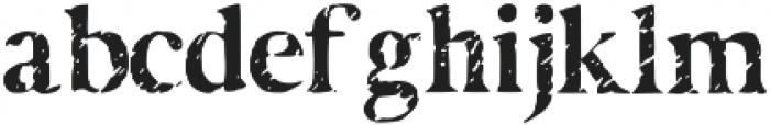 Disjunct otf (400) Font LOWERCASE