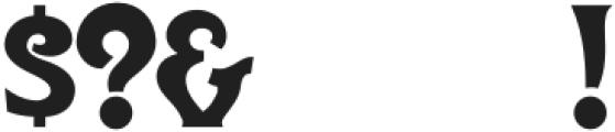 DisplayArtTwo Regular otf (400) Font OTHER CHARS