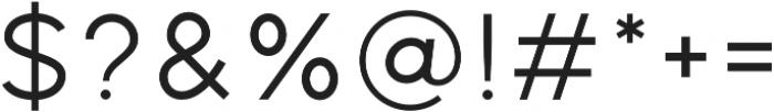 Distinct Style Sans Light Regular otf (300) Font OTHER CHARS