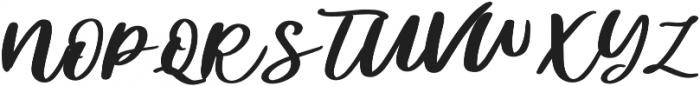 Diveil Script Regular otf (400) Font UPPERCASE