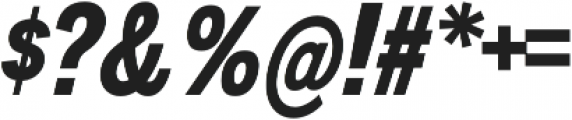 Divulge Condensed Bold Italic otf (700) Font OTHER CHARS