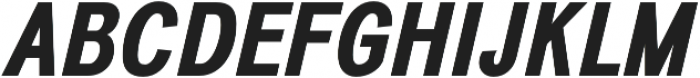 Divulge Condensed Bold Italic otf (700) Font UPPERCASE