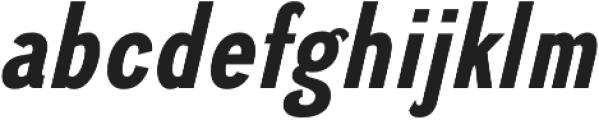 Divulge Condensed Bold Italic otf (700) Font LOWERCASE