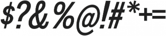 Divulge Condensed Italic otf (400) Font OTHER CHARS