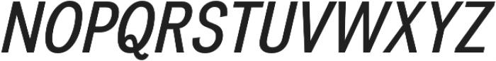Divulge Condensed Italic otf (400) Font UPPERCASE