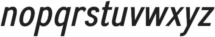 Divulge Condensed Italic otf (400) Font LOWERCASE