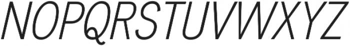 Divulge Condensed Light Italic otf (300) Font UPPERCASE