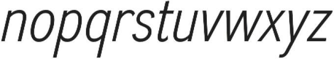 Divulge Condensed Light Italic otf (300) Font LOWERCASE