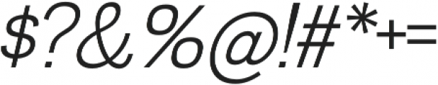 Divulge Light Italic otf (300) Font OTHER CHARS